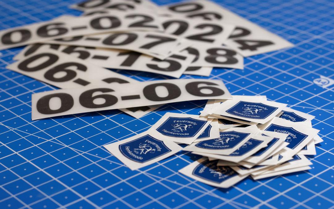 Helmkennzeichnung für die Feuerwehr Hemkenrode