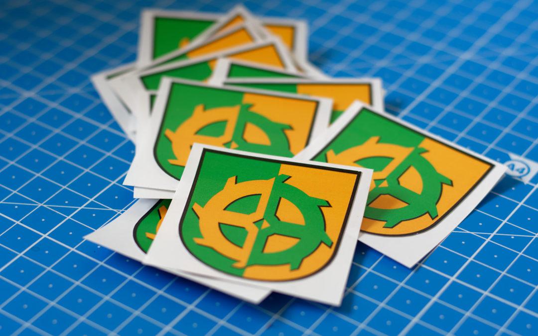Wappenaufkleber für die Ortsfeuerwehr Querum